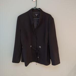 Chadwicks blazer with string belt & chrome rivets